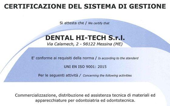Certificazione di Qualità – Norma UNI EN ISO 9001:2015